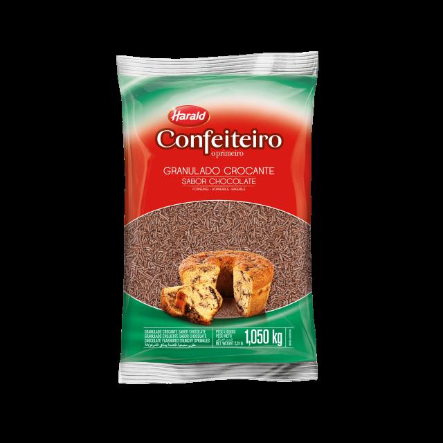 Granulado Crocante sabor Chocolate Confeiteiro 1,050 kg