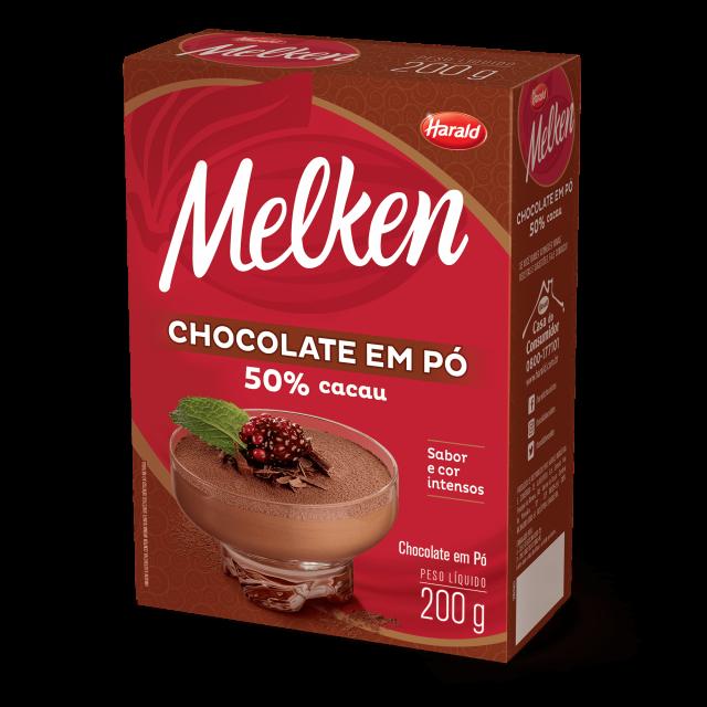 Chocolate em Pó 50% Melken 200 g