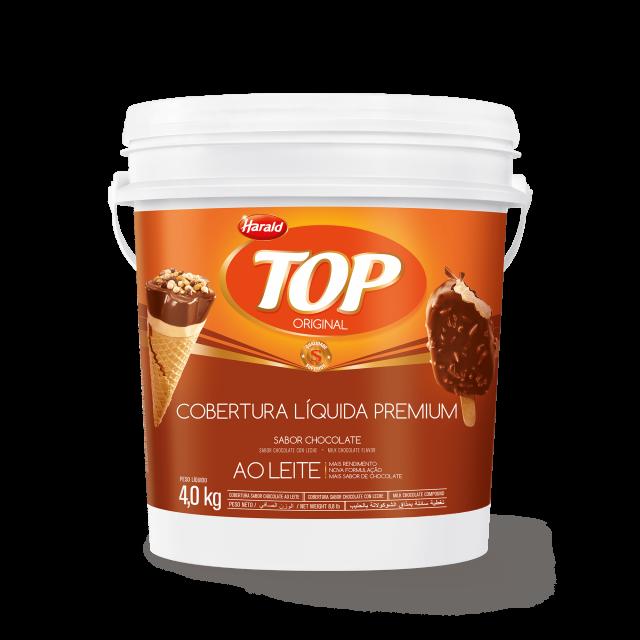 Cobertura Líquida sabor Chocolate ao Leite Top Balde 4,000 kg