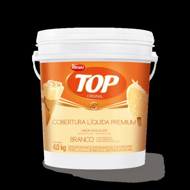 Cobertura Líquida sabor Chocolate Branco Top Balde 4,000 kg